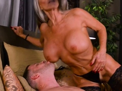 busty granny loves monster dick