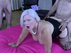 big titted british gran gets gangbanged