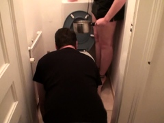 slave joschi get his soup from toilet