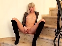 Spicy band bonk Cayenne small butt and Lips by 3 cocks