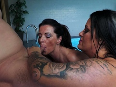 excited-brunette-wife-getting-mouth-cumfilled