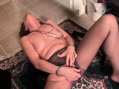 Busty granny Sindee will amaze you with her high sex drive