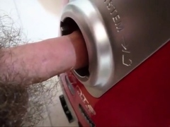 The vacuum cleaner hole and cumshot inside