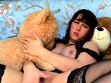 Hottest brunette solo webcam masturbation 2