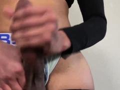 Monster Ebony Pecker TGirl on Webcam Part 2