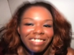 Ebony babe happy to suck anon cocks