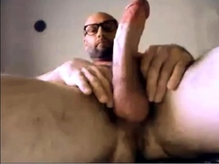 Hairy Str8 Guy with Nice Cock cums on his hand 106