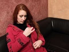 Chesty redhead gets pounded and facialized