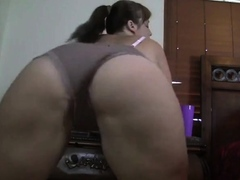 Busty Stepsister spreads ass and pussy