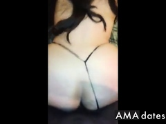 Huge ass amateur girl taking BBC