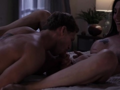 Slut shemale grabs stepbro into the room and rides his dick