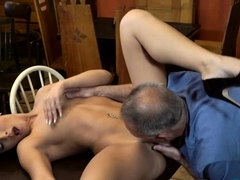 Spicy brunette nympho enjoys deep penetration