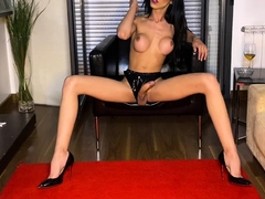 tranny-with-big-tits-tugs-on-her-big-cock