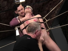 Voluptuous homosexual guy involved into a sexy fetish act
