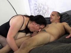 amateureuro-brunette-italian-mature-newbie-fucks-two