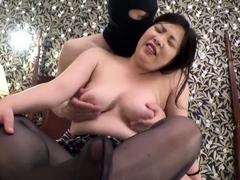 Akiho Yoshizawa Erotic Asian Kitchen Milf In Hot Threesome