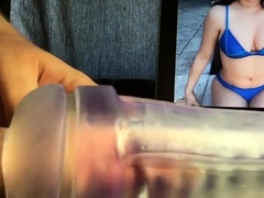 Cumming inside McKayla Maroney (fleshlight)