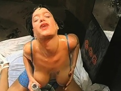 Playgirl gets her twat drilled with hard toy fucking