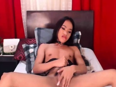 Sexy Tranny Pleasures Her Hard Cock
