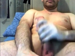 Str8 Guy with Massive Cock cums a Lot 16