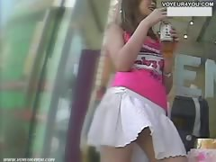 White Panties Underneath The Skirt